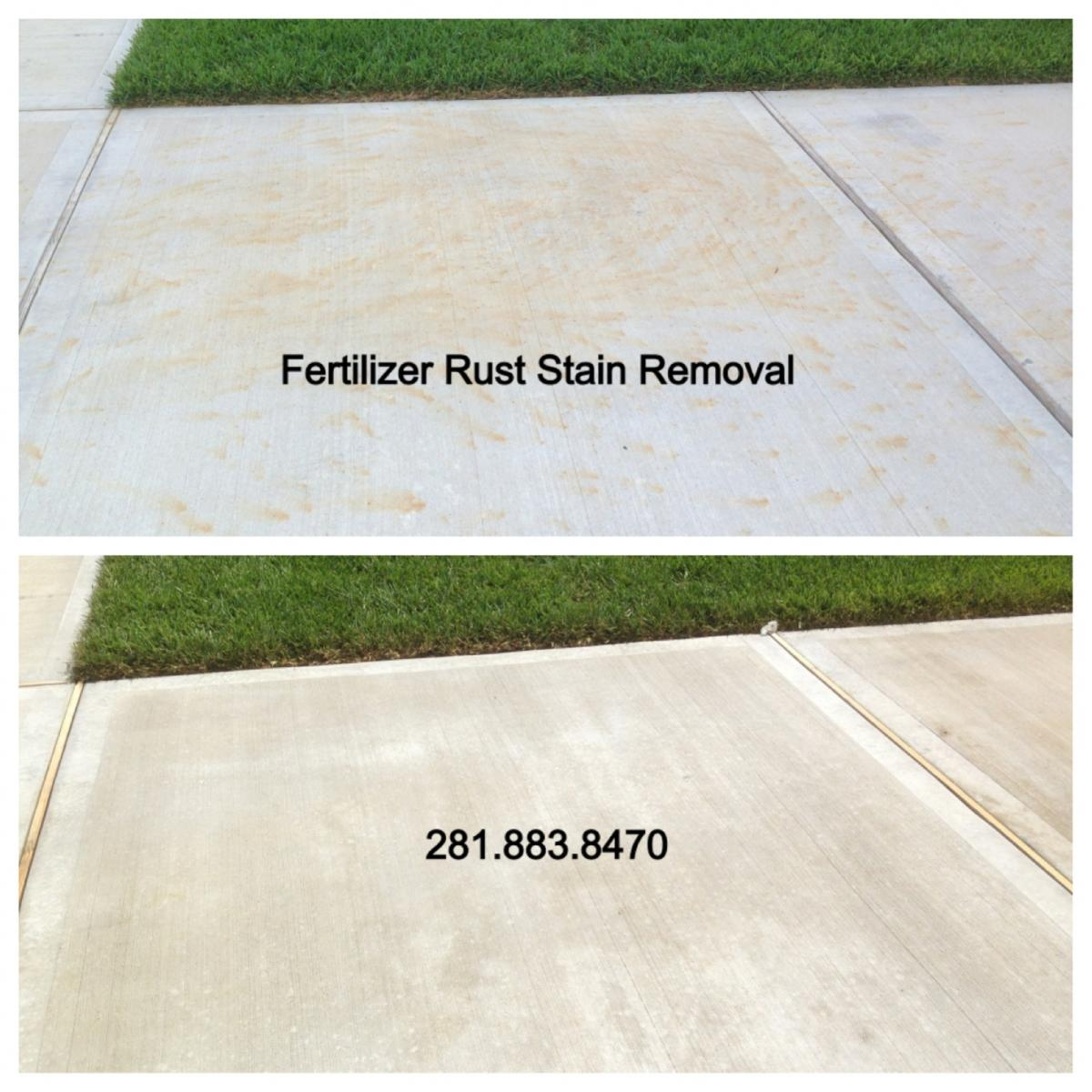 Rust Stain Removal Houston Texas
